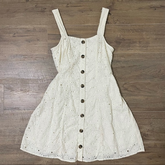 American Eagle Outfitters White Floral Dress